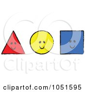 Royalty-Free Vector Clip Art Illustration of a Smiling Red Sketched Triangle by stephjs #COLLC1051595-0162