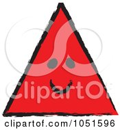Royalty-Free Vector Clip Art Illustration of a Smiling Red Sketched Triangle by stephjs #COLLC1051596-0162