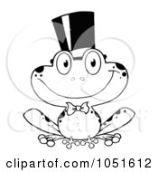 Royalty Free Vector Clip Art Illustration Of An Outlined Frog Groom