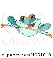 Blue Frog On A Twig