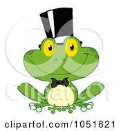 Royalty Free Vector Clip Art Illustration Of A Frog Groom