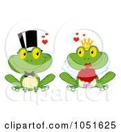 Royalty Free Vector Clip Art Illustration Of A Frog Bride And Groom
