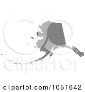Royalty Free Vector Clip Art Illustration Of A Gray Silhouetted Shape Of The State Of Alaska United States