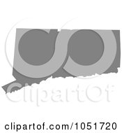Royalty Free Vector Clip Art Illustration Of A Gray Silhouetted Shape Of The State Of Connecticut United States