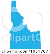 Royalty Free Vector Clip Art Illustration Of A Blue Silhouetted Shape Of The State Of Idaho United States