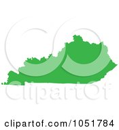 Royalty Free Vector Clip Art Illustration Of A Green Silhouetted Shape Of The State Of Kentucky United States