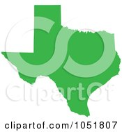 Royalty Free Vector Clip Art Illustration Of A Green Silhouetted Shape Of The State Of Texas United States