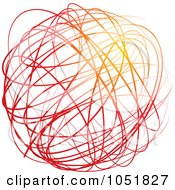Royalty Free Vector Clip Art Illustration Of A Red And Orange Cocoon Sphere Logo by Eugene #COLLC1051827-0054