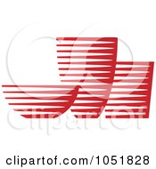 Royalty Free Vector Clip Art Illustration Of A Red Pottery Logo by Eugene