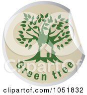 Royalty Free Vector Clip Art Illustration Of A Green Tree Sticker Logo 1 by Eugene
