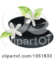 Royalty Free Vector Clip Art Illustration Of A Spa Stones And Jasmine Logo