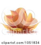 Royalty Free Vector Clip Art Illustration Of A Peach Water Lily Lotus Logo by Eugene