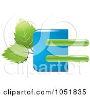Royalty-Free Vector Clip Art Illustration of a Blue And Green Leaf Logo by Eugene