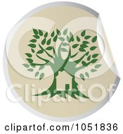 Royalty Free Vector Clip Art Illustration Of A Green Tree Sticker Logo 3 by Eugene