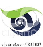 Royalty Free Vector Clip Art Illustration Of A Snail And Leaf Logo by Eugene #COLLC1051837-0054