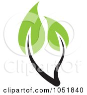 Royalty Free Vector Clip Art Illustration Of A Seedling Plant Ecology Logo 1