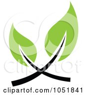 Royalty Free Vector Clip Art Illustration Of A Seedling Plant Ecology Logo 29