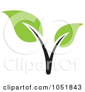 Royalty Free Vector Clip Art Illustration Of A Seedling Plant Ecology Logo 3