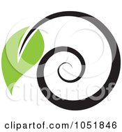 Royalty Free Vector Clip Art Illustration Of A Seedling Plant Ecology Logo 12