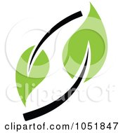 Royalty Free Vector Clip Art Illustration Of A Seedling Plant Ecology Logo 26