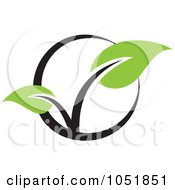 Royalty Free Vector Clip Art Illustration Of A Seedling Plant Ecology Logo 9