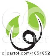 Royalty Free Vector Clip Art Illustration Of A Seedling Plant Ecology Logo 2
