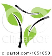 Royalty Free Vector Clip Art Illustration Of A Seedling Plant Ecology Logo 28