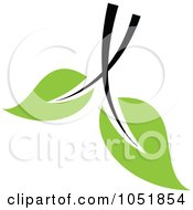 Royalty Free Vector Clip Art Illustration Of A Seedling Plant Ecology Logo 27