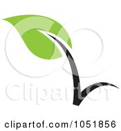 Royalty Free Vector Clip Art Illustration Of A Seedling Plant Ecology Logo 15