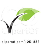 Royalty Free Vector Clip Art Illustration Of A Seedling Plant Ecology Logo 14