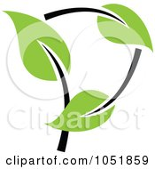 Royalty Free Vector Clip Art Illustration Of A Seedling Plant Ecology Logo 24