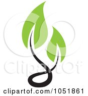 Royalty Free Vector Clip Art Illustration Of A Seedling Plant Ecology Logo 4