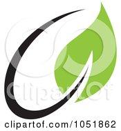 Royalty Free Vector Clip Art Illustration Of A Seedling Plant Ecology Logo 16
