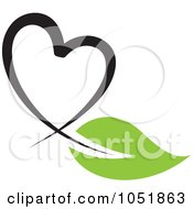 Royalty Free Vector Clip Art Illustration Of A Seedling Plant Ecology Heart Logo