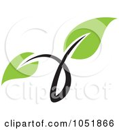 Royalty Free Vector Clip Art Illustration Of A Seedling Plant Ecology Logo 5