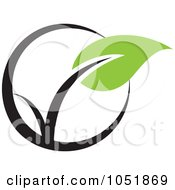 Royalty Free Vector Clip Art Illustration Of A Seedling Plant Ecology Logo 7