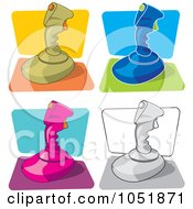 Digital Collage Of Retro Video Game Joysticks by Any Vector