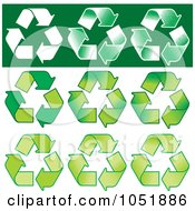 Royalty Free Vector Clip Art Illustration Of A Digital Collage Of Nine Recycle Symbols by Any Vector