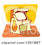 Royalty Free Vector Clip Art Illustration Of A Retro Game Arcade Machine by Any Vector #COLLC1051887-0165