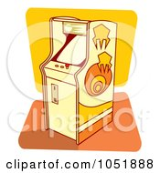 Royalty Free Vector Clip Art Illustration Of A Retro Arcade Game Machine by Any Vector