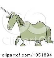 Royalty Free Vector Clip Art Illustration Of A Tan Unicorn by djart