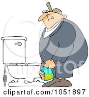 Royalty Free Vector Clip Art Illustration Of A Man Peeing In A Cup For A Drug Test by djart