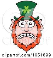 Royalty Free Vector Clip Art Illustration Of A Stressed St Paddys Day Leprechaun by Zooco