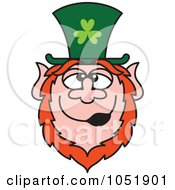 Royalty Free Vector Clip Art Illustration Of A St Paddys Day Leprechaun by Zooco