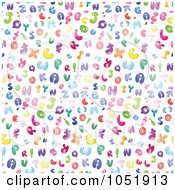 Royalty Free Vector Clip Art Illustration Of A Background Pattern Of Colorful Bubble Letters On White by yayayoyo