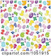 Royalty Free Vector Clip Art Illustration Of A Background Pattern Of Colorful Bubble Numbers On White