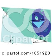 Royalty Free Vector Clip Art Illustration Of A Blue And Green Martini Invitation Design by peachidesigns