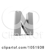 Royalty Free 3d Clip Art Illustration Of A 3d Chrome Alphabet Symbol Letter N