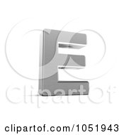 Royalty Free 3d Clip Art Illustration Of A 3d Chrome Alphabet Symbol Letter E