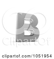 Royalty Free 3d Clip Art Illustration Of A 3d Chrome Alphabet Symbol Letter B